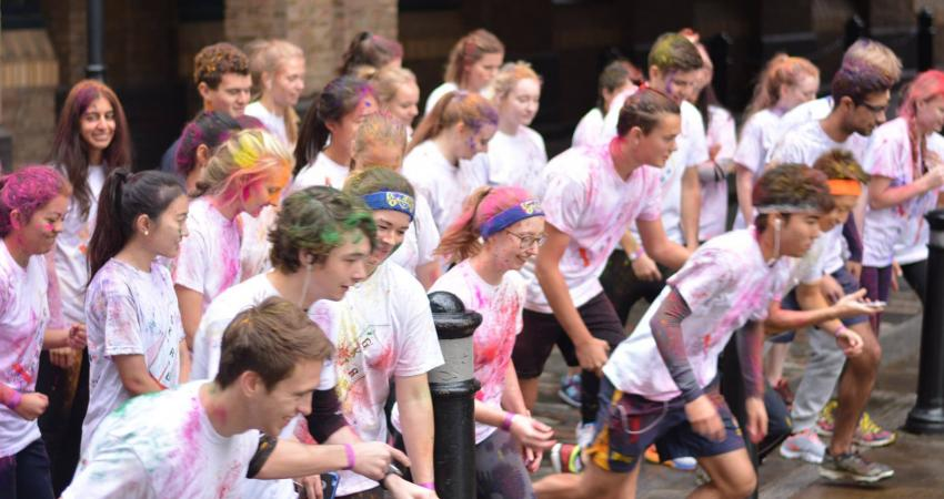 Kings College London - Guys campus Colour Run