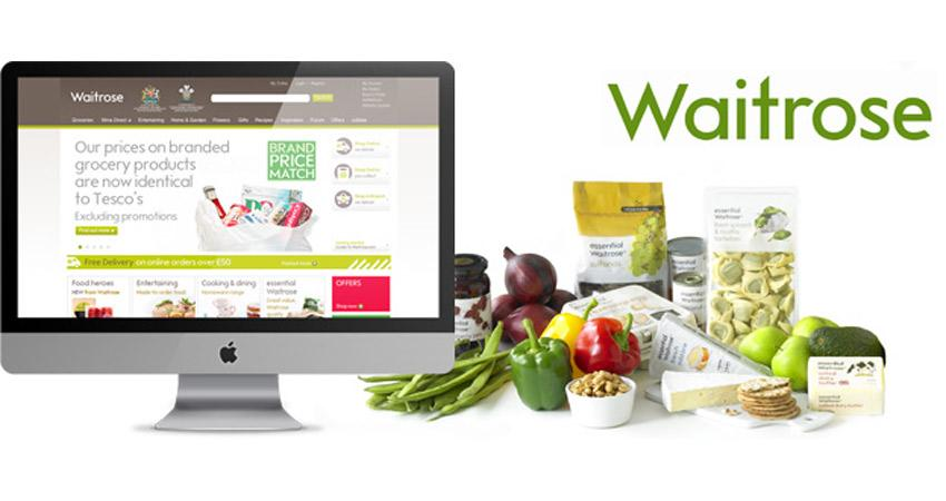 Waitrose logo and Computer screen